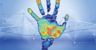 color thermal hand print