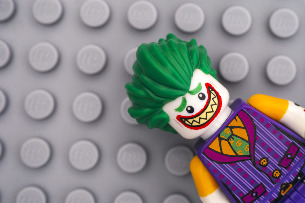 Lego figure of The Joker from Batman