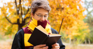 Boy dressed as Harry Potter for World Book Day