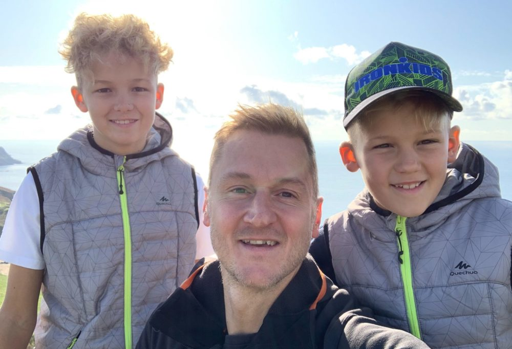 Fitter healthier dad Darren Kirby who writes about the health benefits of going self employed