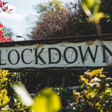 Street sign that has the word lockdown on it