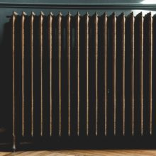 A bronze radiator heating