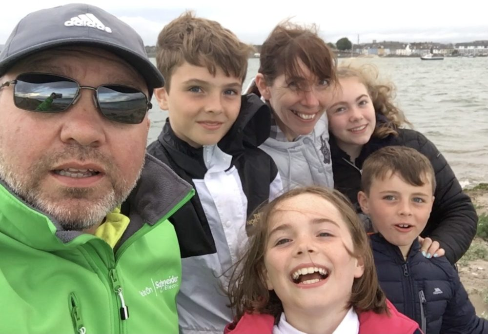 Kevin Hanratty of Schneider Electric and family