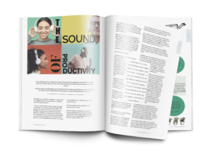 Spread from The Homeworker magazine