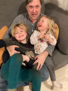 Pete Bainbridge who took Shared Parental Leave with his children