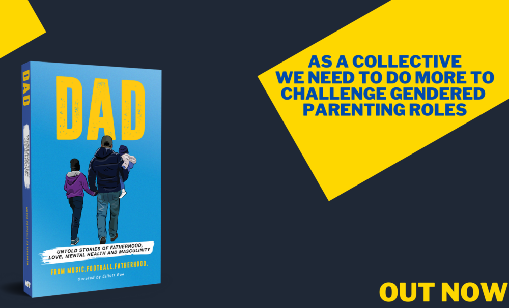 DAD book cover and quote